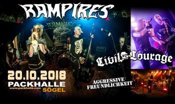 Am 20. Oktober 2018 gibt es von drei Punk (Rock) Bands mit verschiedensten weiteren Einflüssen aus Alternative, Metal u.a. ordentlich etwas auf die Ohren.